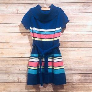 Size 5/6 Girls Blue Sweater Dress